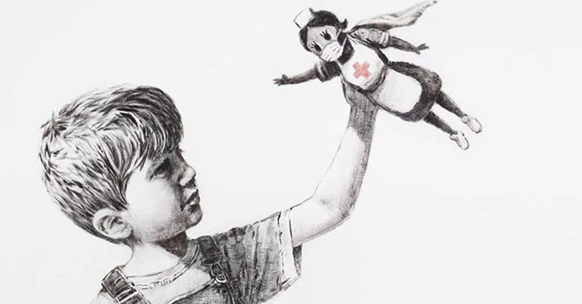 Banksy rend hommage au personnel soignant