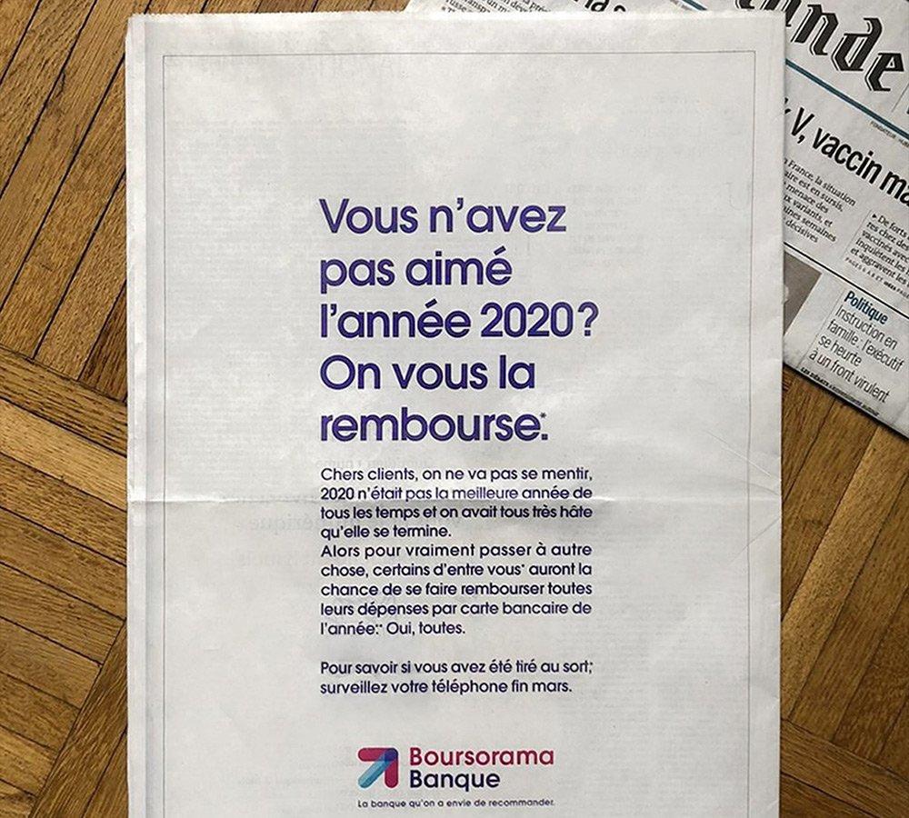 2020 : satisfaits ou remboursés ? Remboursés !!!