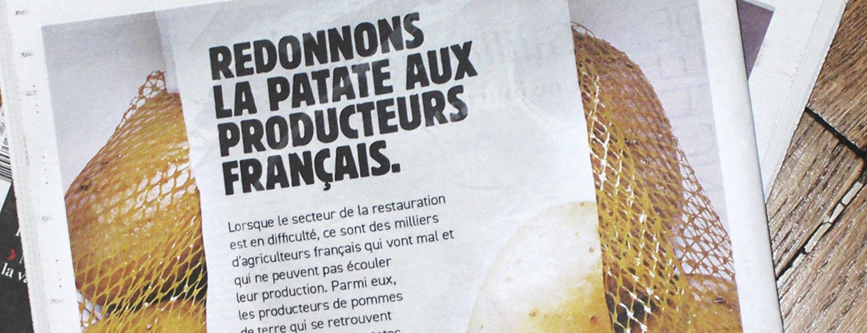 Le King des Burgers vient en aide aux producteurs agricoles souffrant des conséquences de la fermeture des restaurants